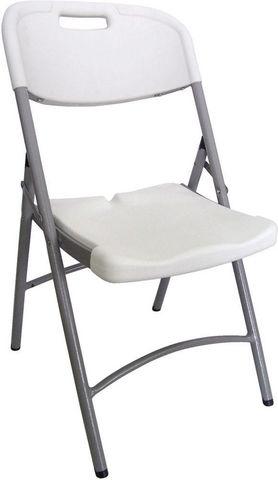 GECKO - Chaise pliante-GECKO-Chaise pliante blanche en  résine 50,5x60x88cm