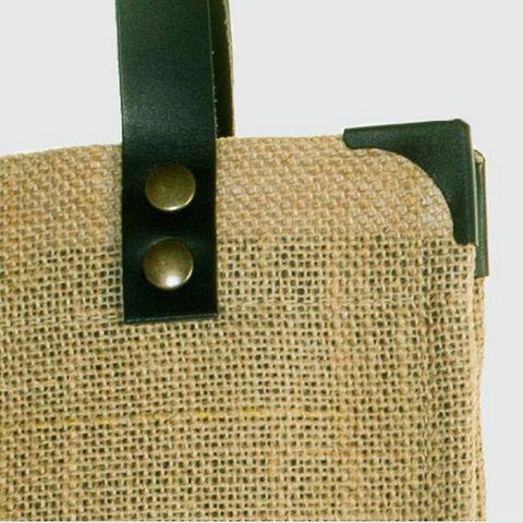 JOVENS - Sac à main-JOVENS-Cabas en jute et cuir
