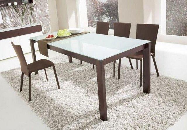 Calligaris - Table de repas rectangulaire-Calligaris-Table repas extensible BARON 130x85 de CALLIGARIS