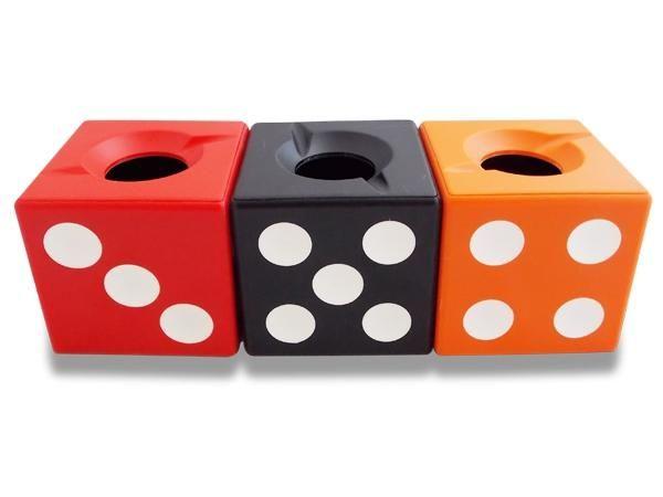 WHITE LABEL - Cendrier-WHITE LABEL-Cendrier dé à jouer orange accessoire fumeur mégot