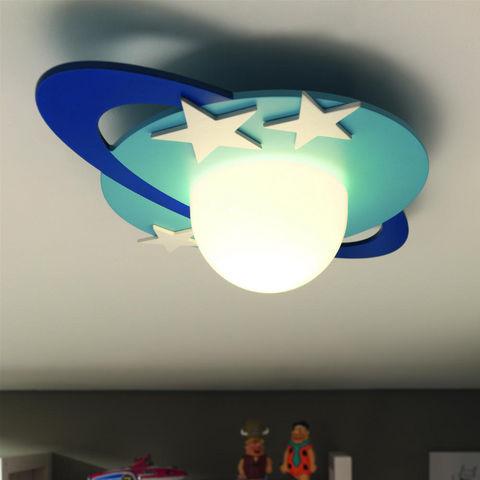 Philips - Suspension Enfant-Philips-CRONOS - Plafonnier Planète Bleu L47,6cm | Lustre