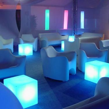 Cubo Cube Lumineux Extérieur Blanc H20cm Lampe Lampe