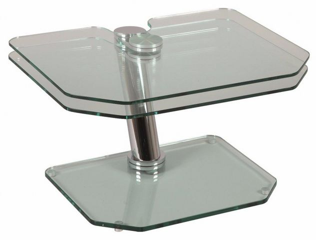 WHITE LABEL - Table basse forme originale-WHITE LABEL-Table basse FLY double plateaux