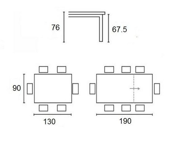 Calligaris - Table bureau-Calligaris-Table extensible SNAP de CALLIGARIS  deco nougat p