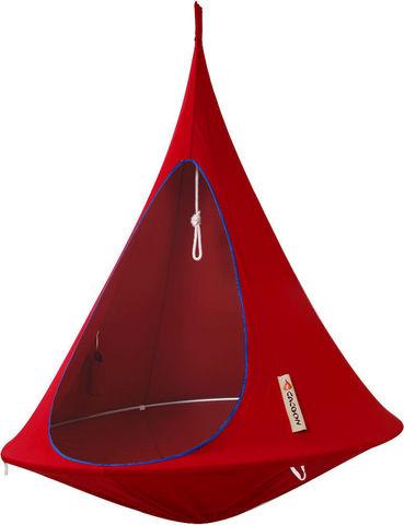 CACOON - Hamac chaise-CACOON-Nid de jardin suspendu Cacoon Rouge piment 150x150