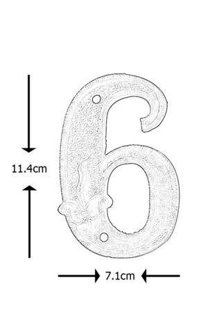 BEST FOR BOOTS - Numéro de porte-BEST FOR BOOTS-Numéro de maison en Fonte 6 11,4x7,1x1cm