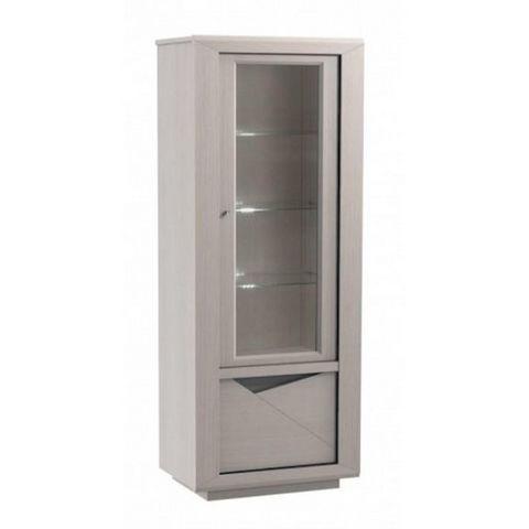 Girardeau - Armoire vitrine-Girardeau-Colonne avec tiroir bar MACAO