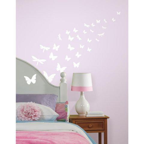 RoomMates - Sticker-RoomMates-Stickers phosphorescents Papillons &, Libellule