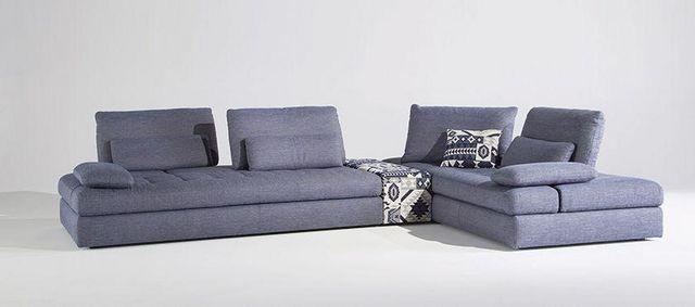 Panorama - Canapé d'angle - Bleu - Cuir Center   Decofinder