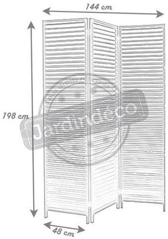 Aubry-Gaspard - Paravent-Aubry-Gaspard-Paravent 3 panneaux en bois vieilli