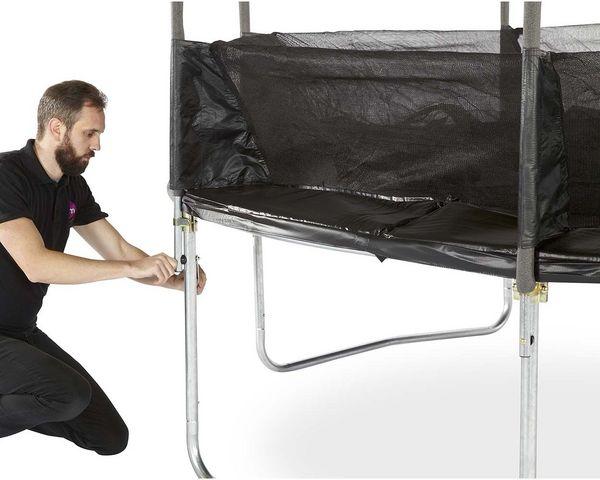 Plum - Trampoline-Plum-Trampoline avec filet innovant 3G Spacezone 425 cm