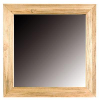 MEUBLES ZAGO - Miroir-MEUBLES ZAGO-Miroir carré 61988 en teck sablé