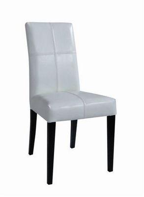 MEUBLES ZAGO - Chaise-MEUBLES ZAGO-Chaise bycast blanc Chicago - Lot de 2