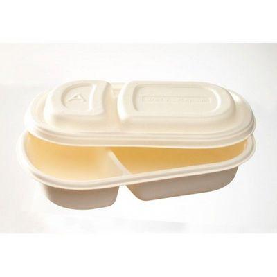 Adiserve - Vaisselle jetable-Adiserve-Barquette lunch-box canne à sucre (25 pces)