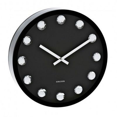 Karlsson Clocks - Horloge murale-Karlsson Clocks-Karlsson - Horloge Big Diamond - Karlsson - Noir