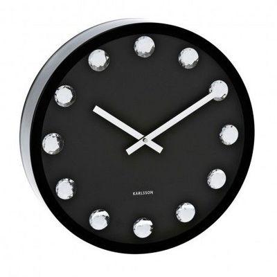 Karlsson Clocks - Horloge murale-Karlsson Clocks-Karlsson - Horloge Big Diamond - Karlsson - Noir