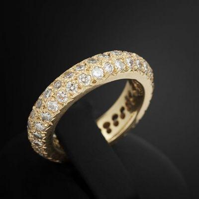 Expertissim - Bague-Expertissim-Alliance en or  ornée de diamants
