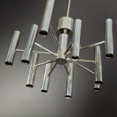 Expertissim - Lustre-Expertissim-Suspension lumineuse en inox vers 1970