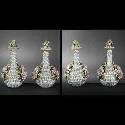 Expertissim - Vase décoratif-Expertissim-Paire de vases en porcelaine de Jacob Petit