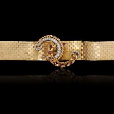 Expertissim - Bracelet-Expertissim-Bracelet manchette or jaune (18k) et platine