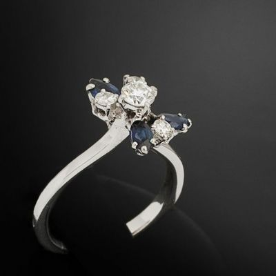 Expertissim - Bague-Expertissim-Bague fleur or et diamants