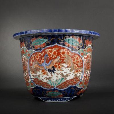 Expertissim - Cache-pot-Expertissim-JAPON. Vase Imari