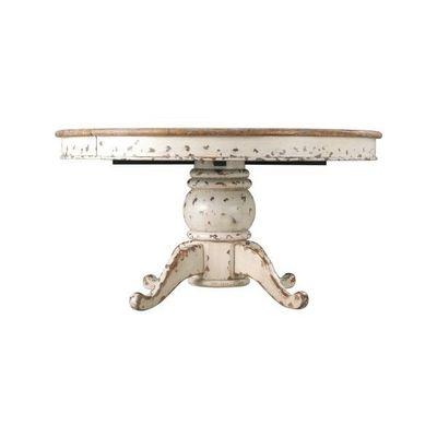 DECO PRIVE - Table de repas ronde-DECO PRIVE-Table de salle a manger ronde a rallonge en bois b
