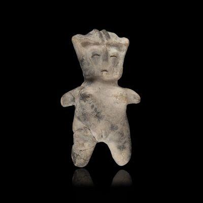 Expertissim - Objet d'art précolombien-Expertissim-Statuette féminine en terre cuite.  Valdivia