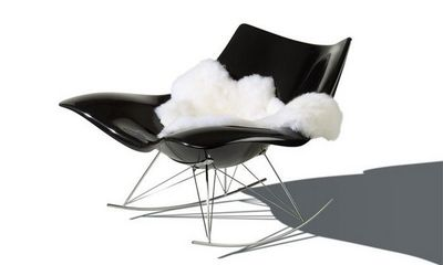 Fredericia - Rocking chair-Fredericia-Stingray noir