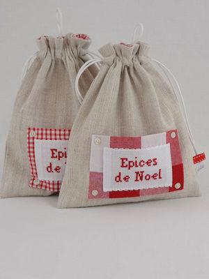 L'atelier de véro - Porte-épices-L'atelier de véro-Pochon épices de Noël