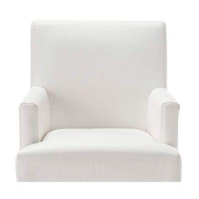 Maisons du monde - Housse de fauteuil-Maisons du monde-Housse ivoire fauteuil de bar Lounge