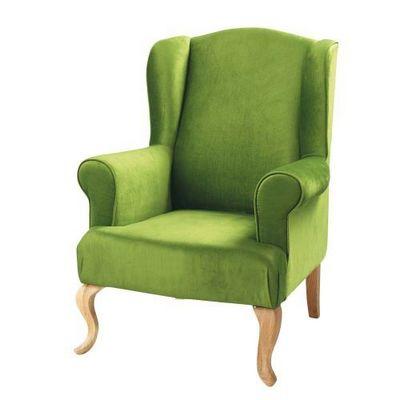 Maisons du monde - Fauteuil-Maisons du monde-Fauteuil vert Charlie
