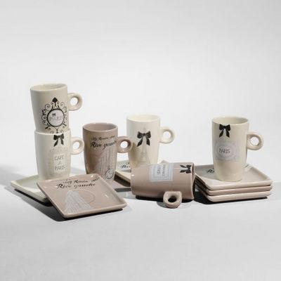 Maisons du monde - Tasse à café-Maisons du monde-Coffret 6 tasses à café Rive gauche