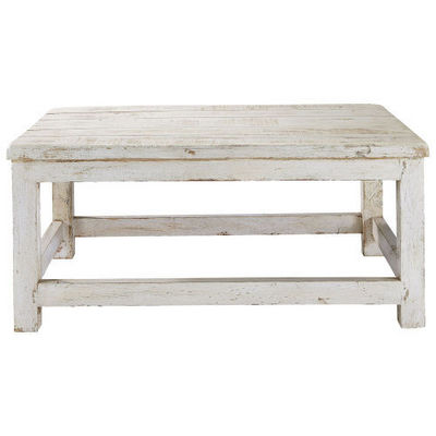 Table basse blanche avignon table basse rectangulaire - Table basse blanche rectangulaire ...