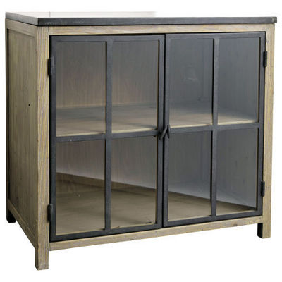 El ment bas vitr 90 cm copenhague meuble de cuisine - Elements bas de cuisine ...
