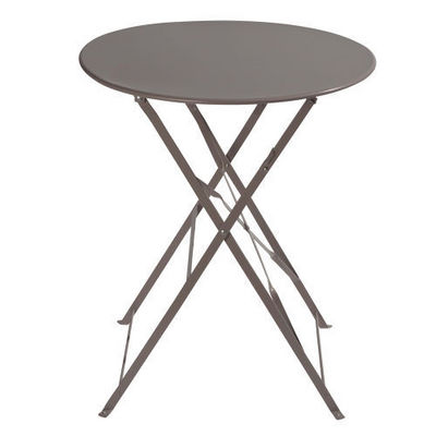 MAISONS DU MONDE - Table de jardin ronde-MAISONS DU MONDE-Table taupe Confetti