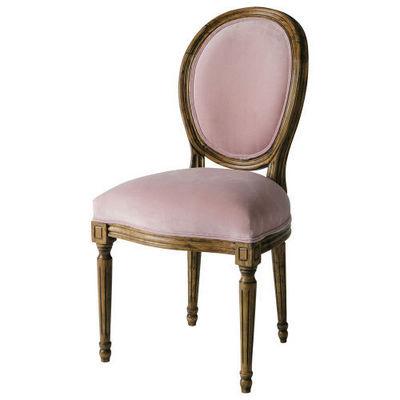 Maisons du monde - Chaise médaillon-Maisons du monde-Chaise vieux rose Louis