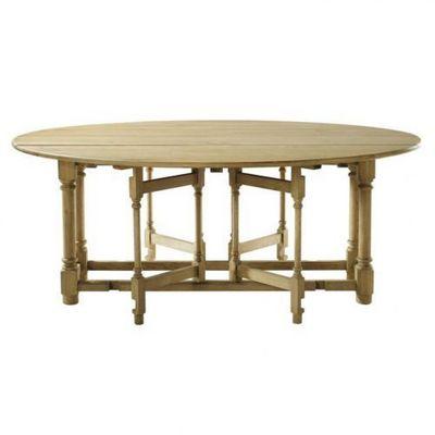 Maisons du monde - Table de repas ronde-Maisons du monde-Table à dîner Atelier