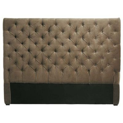 Maisons du monde - Tête de lit-Maisons du monde-Tête de lit 140 cm taupe Chesterfield