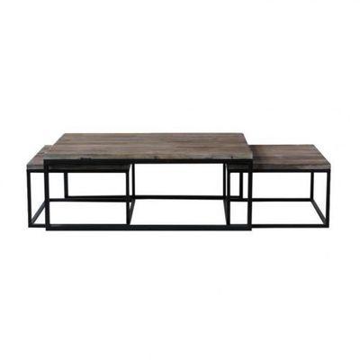 MAISONS DU MONDE - Tables gigognes-MAISONS DU MONDE-Set de 3 tables basses Long Island