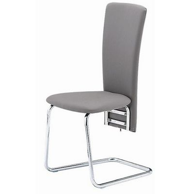 CLEAR SEAT - Chaise-CLEAR SEAT-Chaise Grise Simili Cuir Tempo