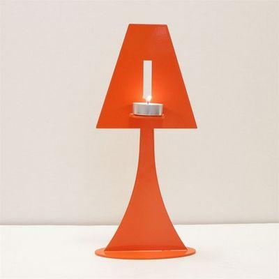 Fenel & Arno - Bougeoir-Fenel & Arno-Bougeoir lampe en métal orange Chandelier Electic