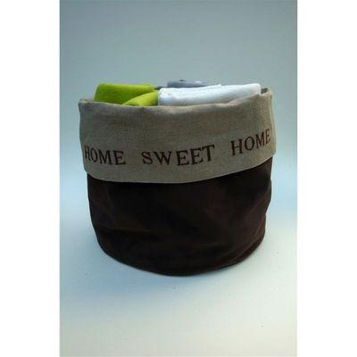 L'atelier D'anne - Sac de rangement-L'atelier D'anne-Sac lin et velours Home sweet Home pour ranger pla
