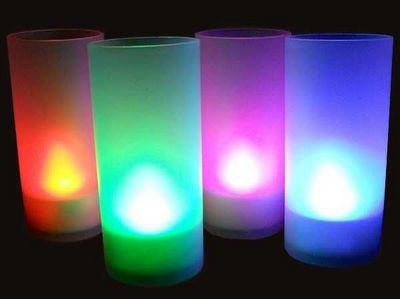 SUNCHINE - Bougie d'extérieur-SUNCHINE-6 bougies led colorees fonction souffle