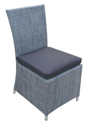 TRAUM GARTEN - Chaise de jardin-TRAUM GARTEN-Chaise de jardin en textilène gris anthracite avec