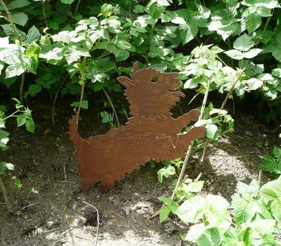 OKE DECORATION - Ornement de jardin-OKE DECORATION-Chien sautant décoratif en métal