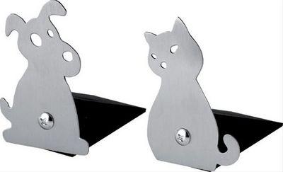Balvi - Serre-livres enfant-Balvi-Duo de cale-portes design chien & chat