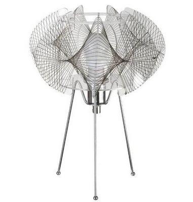 La Chaise Longue - Lampe à poser-La Chaise Longue-Lampe filaire mandala en métal chromé 22x31cm