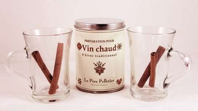 Le Pere Pelletier - Gobelet-Le Pere Pelletier-Coffret vin chaud traditionnel avec 2 tasses 24x20