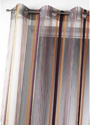 HOMEMAISON.COM - Voilage-HOMEMAISON.COM-Voilage organza tissé rayures verticales